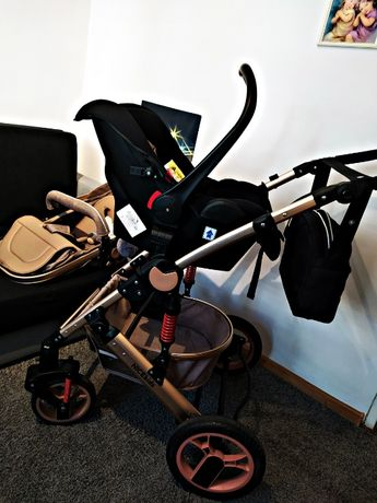 Wózek NICEkids 3w1 (gondola,spacerówka,fotelik) stan bardzo dobry