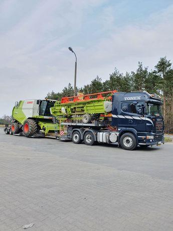 Transport kombajnów maszyn rolniczych,budowlanych,ciągników siodłowych