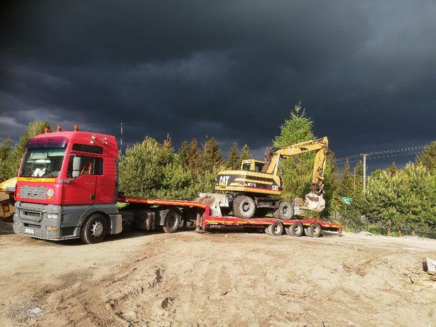Transport niskopodwoziowy maszyn budowlanych rolniczych lesnych Pomoc