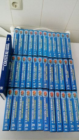 A Odisseia Submarina 36 VHS's + livro