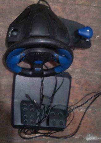 руль игровой+педали=steering wheel PS||/USB780||| 2 in1,б/у