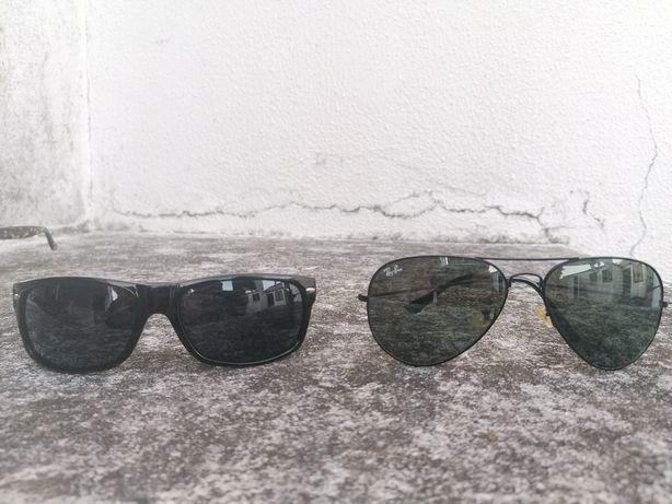 2 pares de óculos de sol Ray Ban