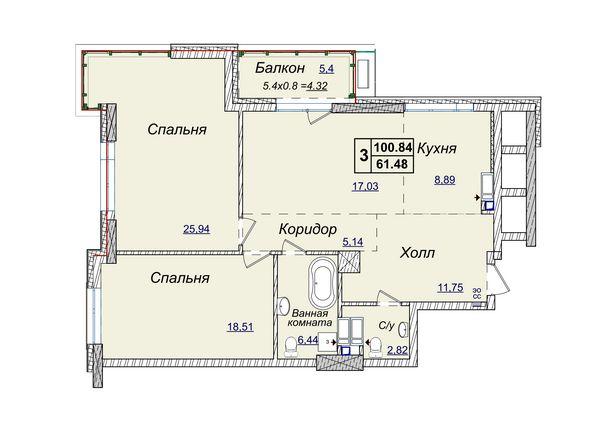 Без комиссии , Новопечерские Липки продажа квартиры в новом доме 100 м