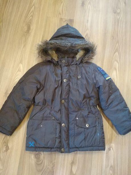 Зимняя куртка-парка на мальчика р.116