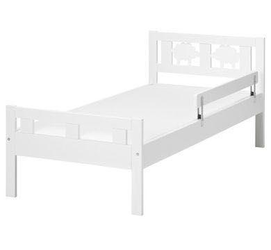 Łóżeczko dziecięce Ikea Kritter +barierka + materac