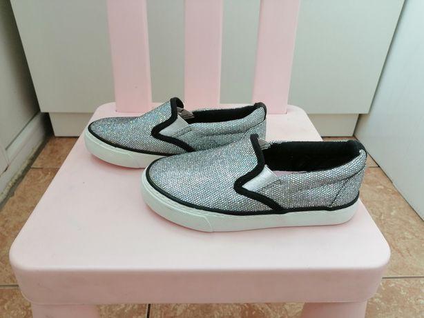 Стильные красивые модные туфли туфельки кеды мокасины в блестках 28р