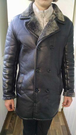 Чоловіча куртка еко шкіра демосезона+ шапка в подарунок.
