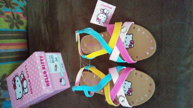 Buciki dla dziewczynki sandałki Hello Kitty roz.34, wkładka 22,5cm