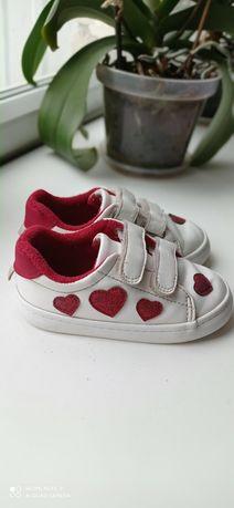 Кроссовки, кеды H&M для девочки 24 р.