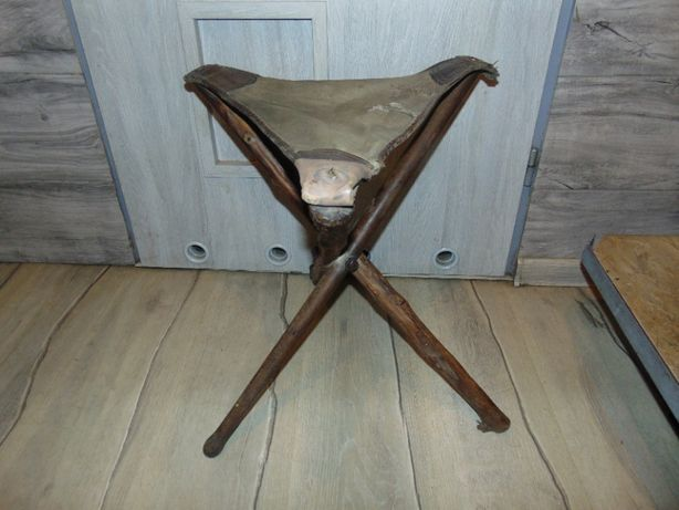 Stare krzesło,laska myśliwska lub dla rybaka