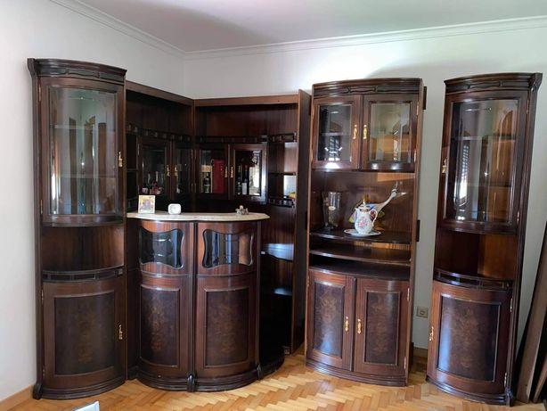 Bar de sala, madeira de cerejeira