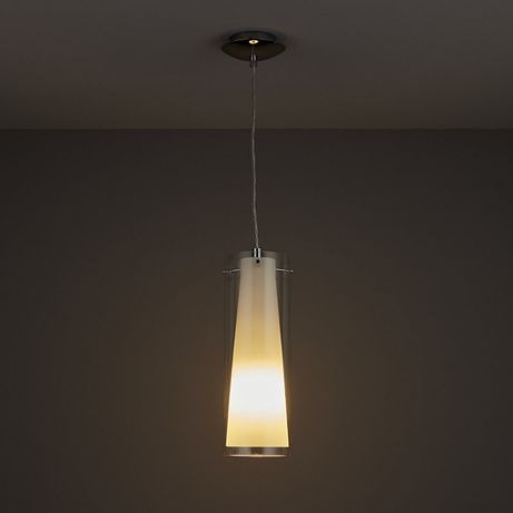 Lampa sufitowa Kamara Tube White Pendant szkło żarówka E27 Polecam