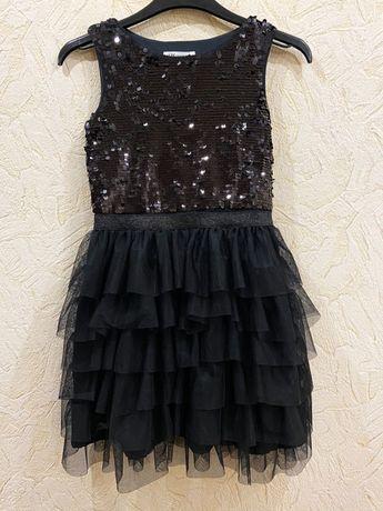 Очень нарядное платье с пайетками H&M, 134 см (8-9 лет)