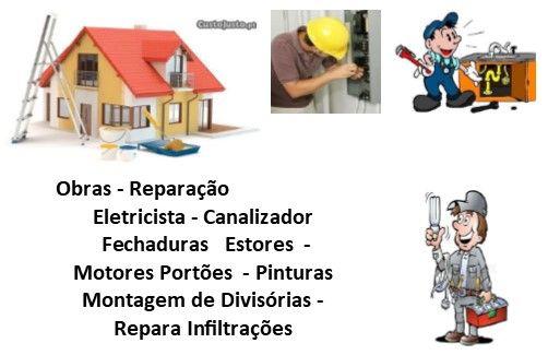 infiltrações, reparar , canalização , eletricidade, fechaduras outros