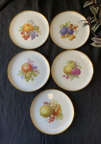 Винтажные фарфоровые тарелки для фруктов