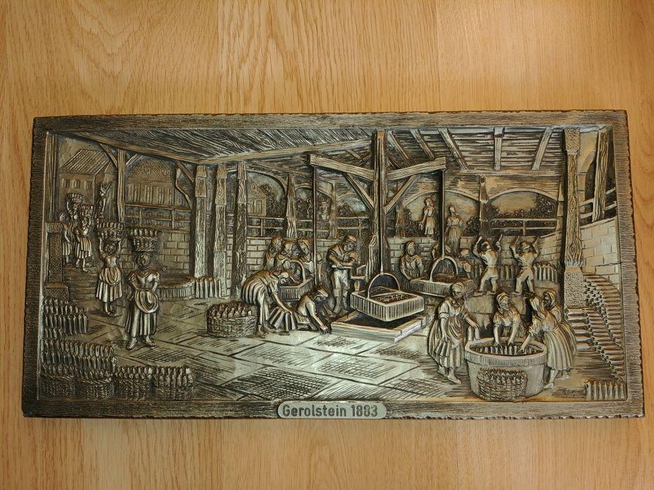Płaskorzeźba, stara, galwanoplastka, antyk , Gerolsteiner Wrocław - image 1