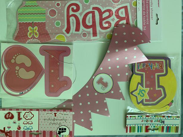 Набір для декору святкування 1 року дівчинці