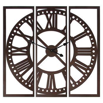 Relógio Tríptico Ferro Branco ou Preto Iron Clock Black White - NOVO
