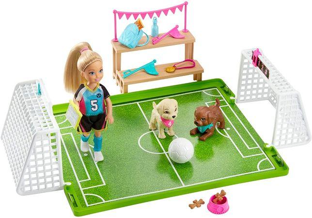 Барби Челси игра в футбол футбольное поле Barbie Chelsea Soccer