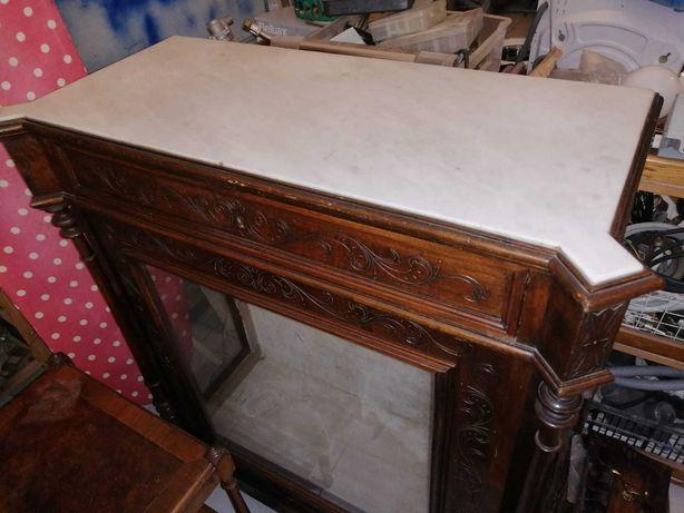 Cristaleira Móvel TV e mesa de canto