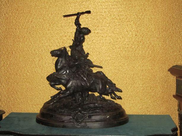 Скульптура Джигитовка лезгин 1912 год Е.А.Лансере