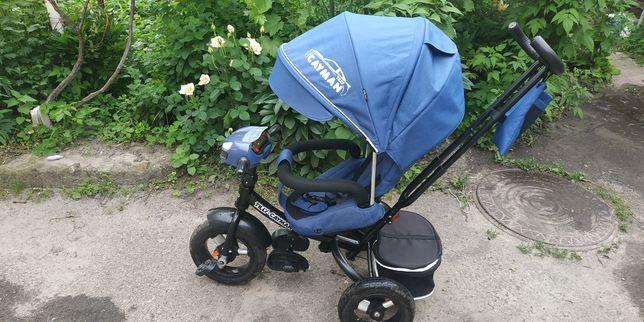 Детский трёхколёсный велосипед коляска с родительской ручкой
