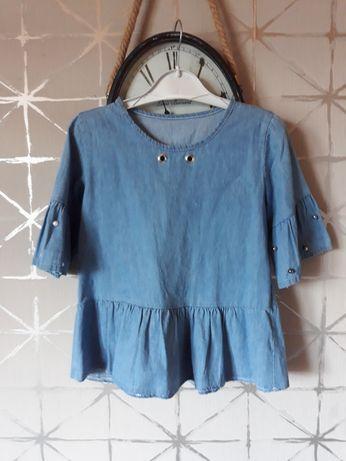 Śliczna bluzeczka dla dziewczynki. Roz. 122 128