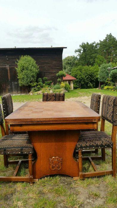 Stół drewniany I 12 krzesel Gorzów Wielkopolski - image 1
