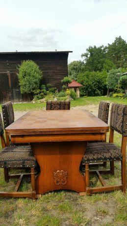 Stół drewniany I 12 krzesel