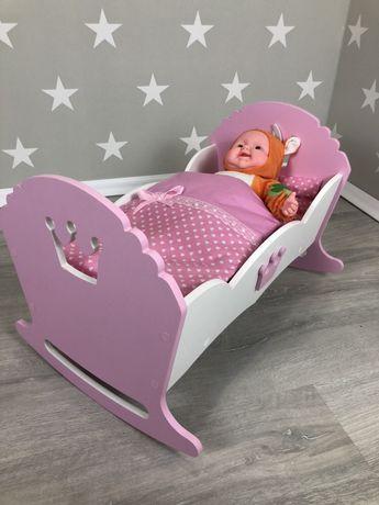 Кроватка для кукол, кроватка для пупсов, кроватка для беби борн