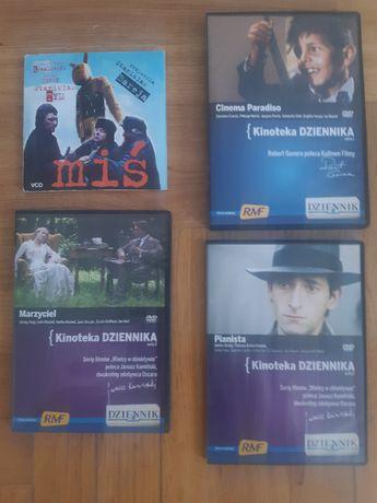 filmy na CD: Miś, Marzyciel, Cinema paradiso, Pianista