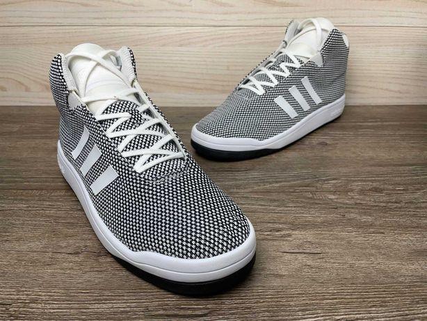 Кроссовки высокие Adidas Veritas серые белые мужские 44 Original