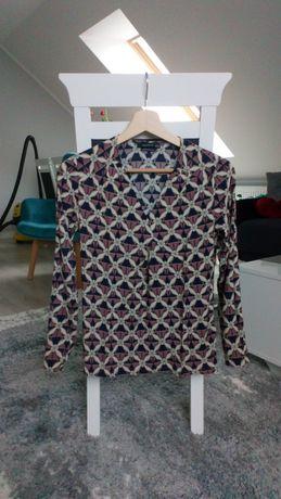 Bluzka koszula damska reserved 34 xs kwiaty
