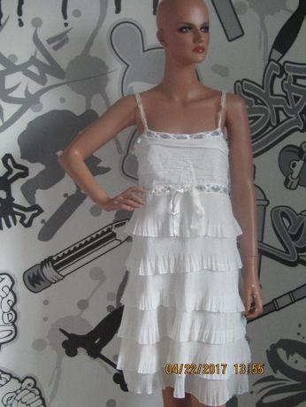 sukienka biała M/L