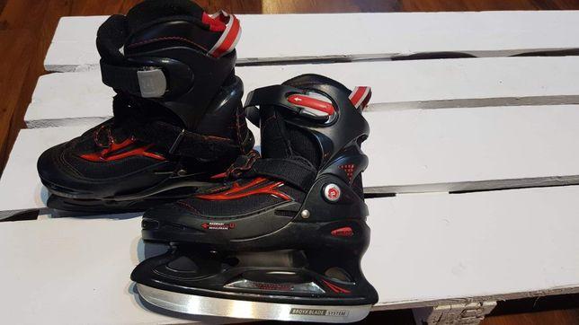 Łyżwy hokejowe regulowane 30-33 dziecięce