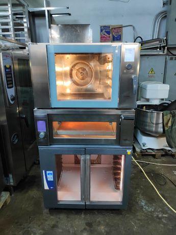 Печь -стойка комплект Wiesheu ; конвекционная B4+ подовая+ расстойка