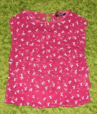 Bluzeczka w koniki dla dziewczynki 5-6 lat