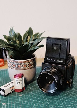 Câmera Médio Formato Mamiya RB67 Pro + Sekor 127mm f3.8 (120)