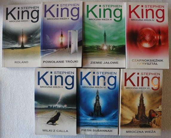 Mroczna wieża -Stephen King, komplet siedem tomów