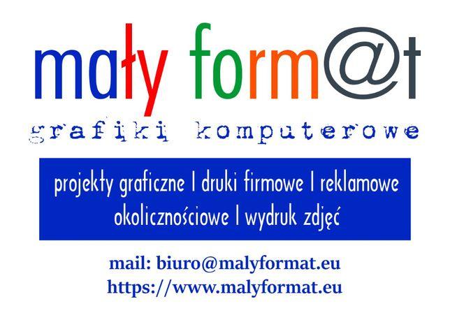 Projekty graficzne, wizytówki, ulotki, druki firmowe, wydruk zdjęć