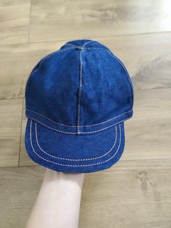 Jeansowa czapka z daszkiem M