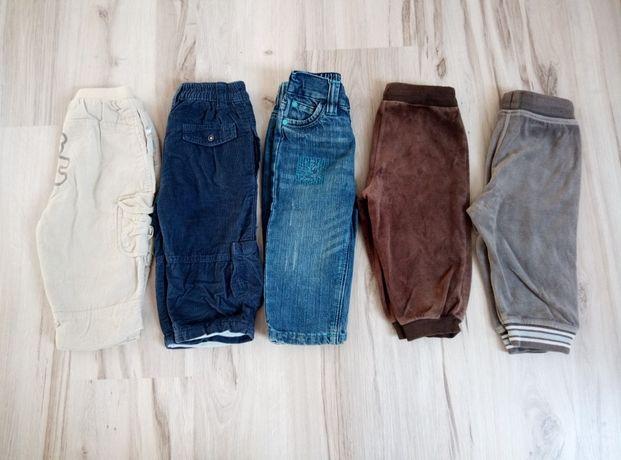 Spodnie 5 par, rozmiar 80