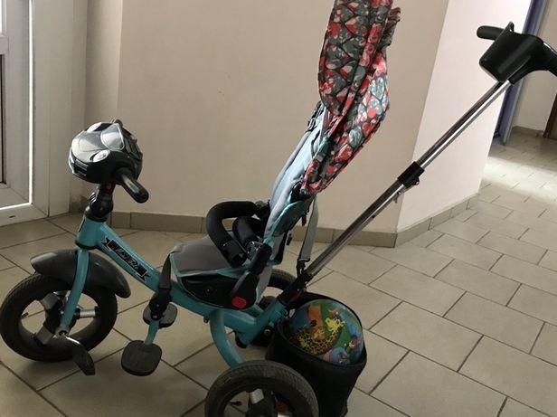 Детский трехколесный велосипед Mini Trike с ручкой