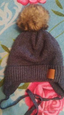 Теплая шапка на зиму