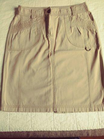 Spódnica beżowa, rozmiar M
