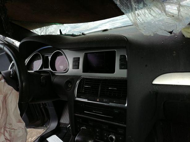 Разборка Audi Q7 3.0 TFSI 4L Supercharger USA потолок панорама салон