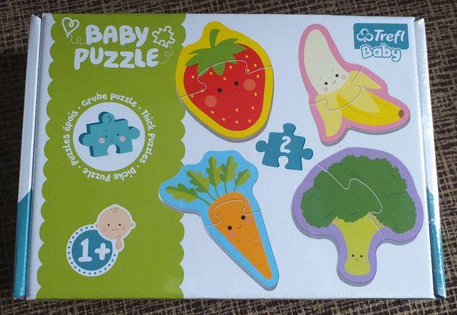 Trefl, Warzywa i owoce, puzzle baby