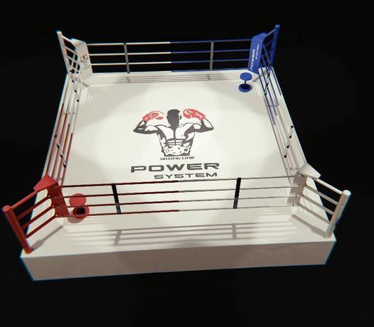 Ринг для бокса, Боксерский ринг, на помосте 0,6 м, размер 6х6 метра.