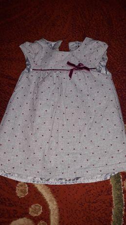 Детское платье 9-12 месяцев