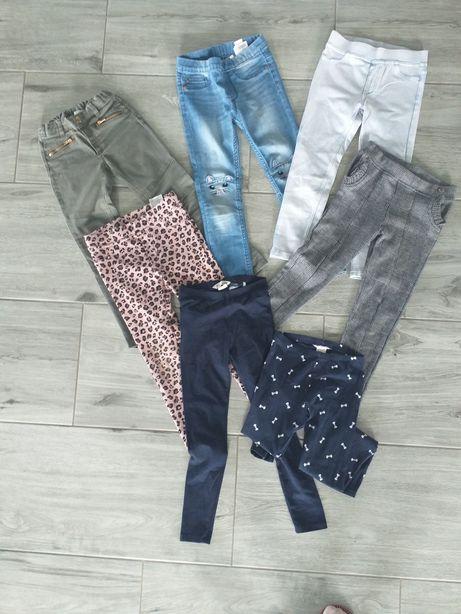 Spodnie h&m 110/116 jeansy jeginsy  treginsy leginsy khaki kratka